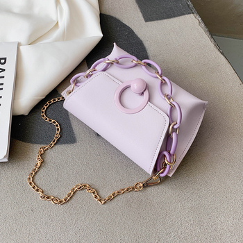 Mini Solid Color Crossbody Bags PU Leather Cross Body Bags For Women 2020 Female Chain Shoulder Handbags Lady Travel Bag