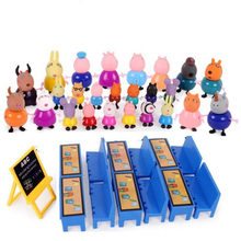 Peppa Pig Fashion Family Pack Various Roles Peppa Pig Anime Kids Toys Children Birthday Gifts Action Figure Pvc Model