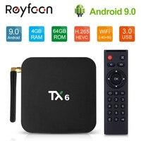 Android 9.0 TV Box TX6 4GB RAM 64GB 5.8G Wifi Allwinner H6 Quad Core USD3.0 BT4.2 4K Google Player Youtube Set Top Box TX6 Netfl