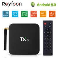 Android 9.0 TV Box TX6 4GB 32G 64GB 5.8G Wifi Allwinner H6 Quad Core USD3.0 BT4.2 4K Google Play Youtube Set Top Box TX6 Netflix