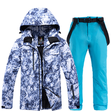 Ski Suit Men Winter New Outdoor Windproof Waterproof Thermal Snow Jacket And Pants Clothes Skiing And Snowboarding Suits Brands cheap Tringa COTTON Fits true to size take your normal size Jackets Hooded Anti-Wrinkle Anti-Shrink Breathable Anti-Pilling 091701