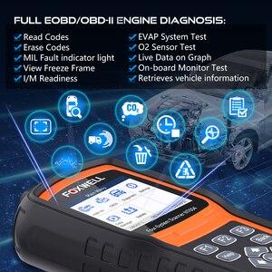 Image 2 - FOXWELL NT604 OBD Scanner Code Reader Motor Überprüfen Scan Tool ABS SRS Übertragung Werkzeuge Für Auto 4 System Diagnose Freies update