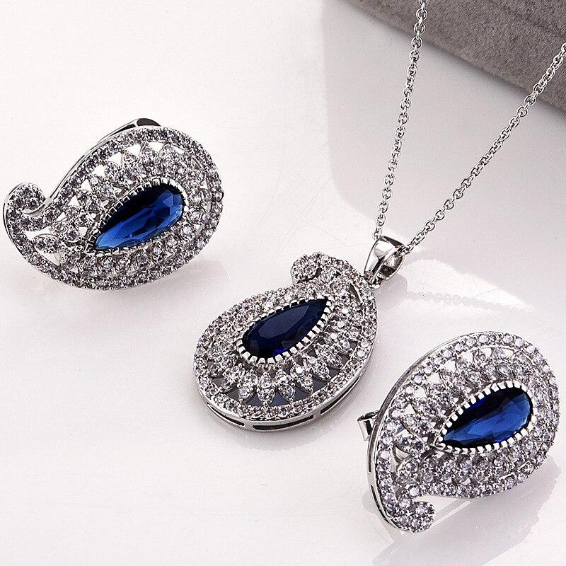 Mode animale mariage dames ensembles de bijoux pour les femmes de luxe cristal Zircon boucles d'oreilles colliers ensemble bijoux