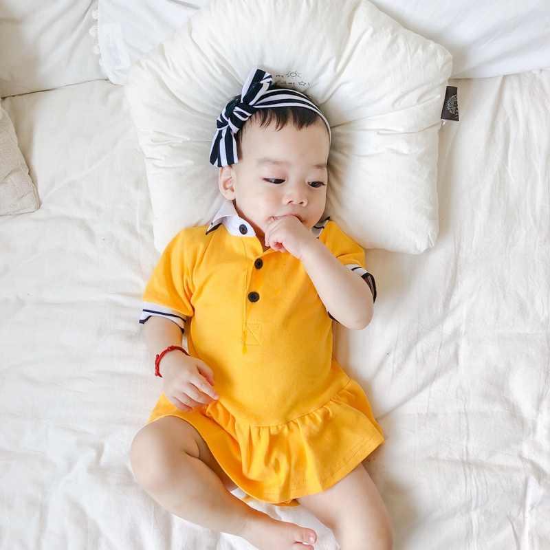 Боди с короткими рукавами в полоску для маленьких детей Семейные комплекты боди