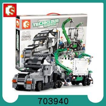 City Legoed 1202pcs Big Engineering Truck Building Blocks Set Heavy Container Technic Mark ehicles Car Model Brick Toys For Boy