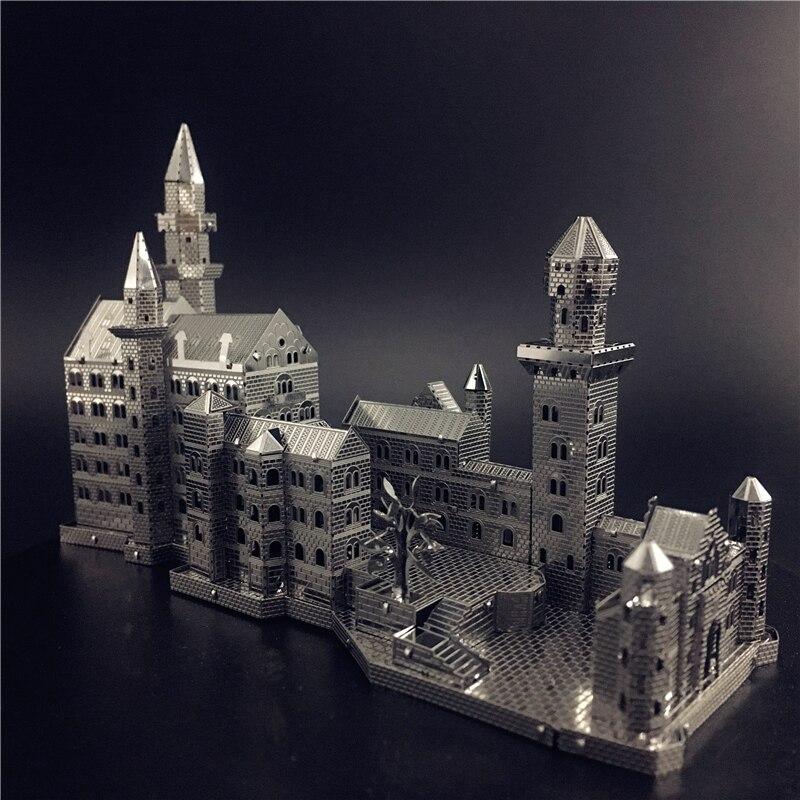 MMZ MODEL NANYUAN 3D Metal Model Kit New Swan Stone Castle Assembly Model DIY 3D Laser Cut Model Puzzle Toys For Adult