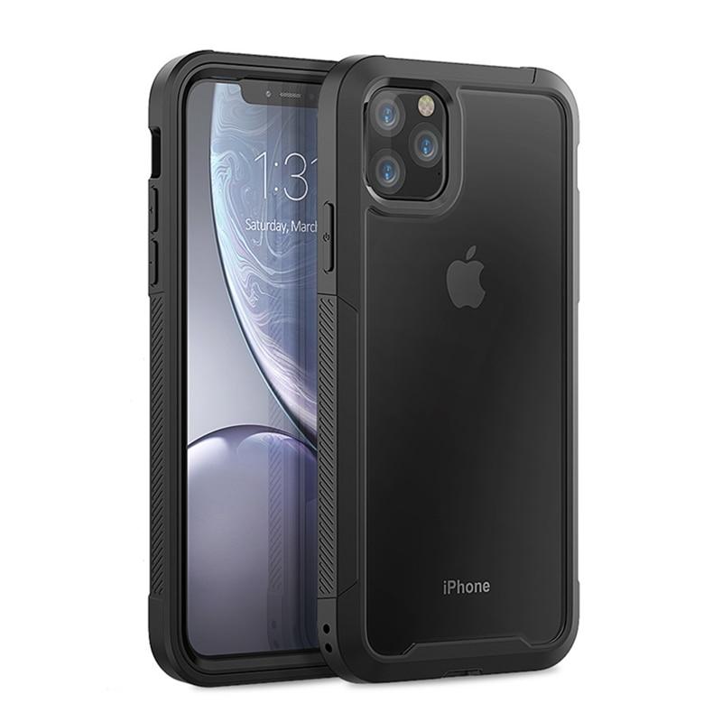 Transparent Anti Scratch Protective Case For iPhone 11 Pro Max 6 6s 7 8 Plus X Transparent Anti-Scratch Protective Case For iPhone 11 Pro Max 6 6s 7 8 Plus X XS Max XR Hard PC+ TPU Bumper Dual Layer Cover