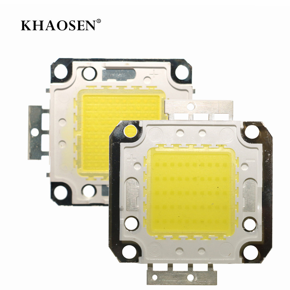 LED COB Chip Square  Beads 10W 20W 30W 50W 70W 100W High Brightness Smart IC DC 12V 36V Integrated LED Spotlight With Driver
