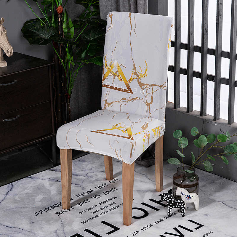 Marble White Wedding Chair Covers For