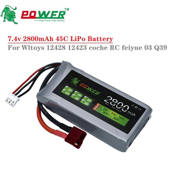 7.4V RC Car Lipo Battery Upgrade 2800mAh Max 60C For Wltoys 12428 12423 RC Car part 2s 7.4v Battery for feiyue 03 Q39 vs 2700mah