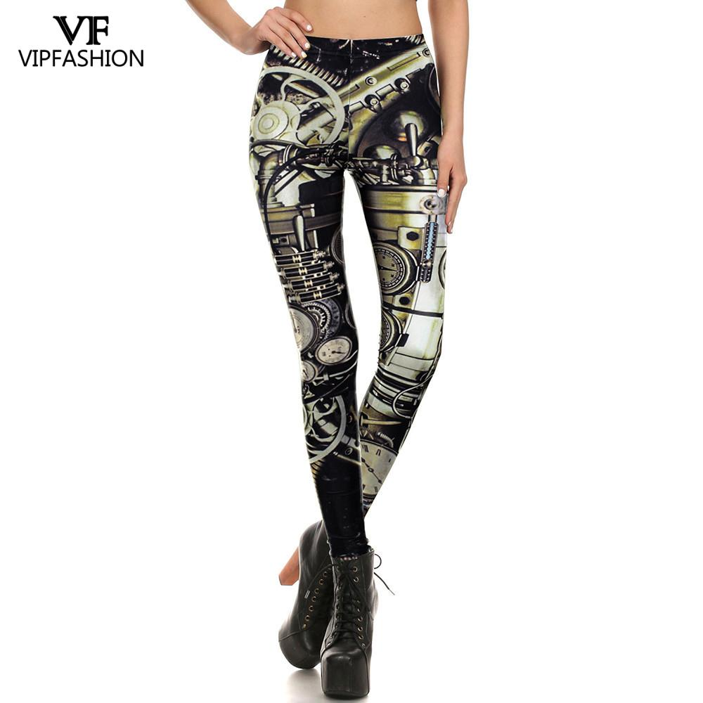 VIP FASHION 2020 New Fashion Steam Punk 3D Printed Armor Battlesuit For Women Legging Gym Fitness Leggin