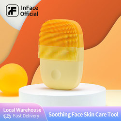 Inface Officiële Winkel Sonic Gezichtsreiniger Huidverzorging IPX7 Waterdicht Rustgevende Gezicht Huidverzorging Gereedschap Schoonheid Massager