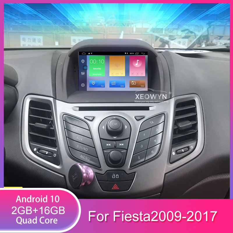 Quad Core Android 10 Car DVD player <font><b>GPS</b></font> Navigation In-dash Stereo Radio for <font><b>Ford</b></font> <font><b>Fiesta</b></font> 2008 2009 2010 2012 2013 2014 2015 2016 image