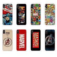 Zurück Cases Schlank Für Apple iPhone 4 4S 5 5C 5S SE 6 6S 7 8 11 plus Pro X XS Max XR Luxus Marvel Comics Logo(China)