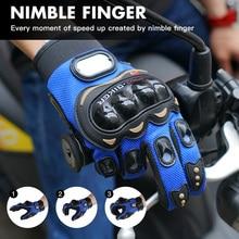 цена Full Finger Motorcycle Glove Gants Moto Luvas Motocross Summer Breathable Motorbike Guantes Off Road Bicycle Racing Gloves онлайн в 2017 году
