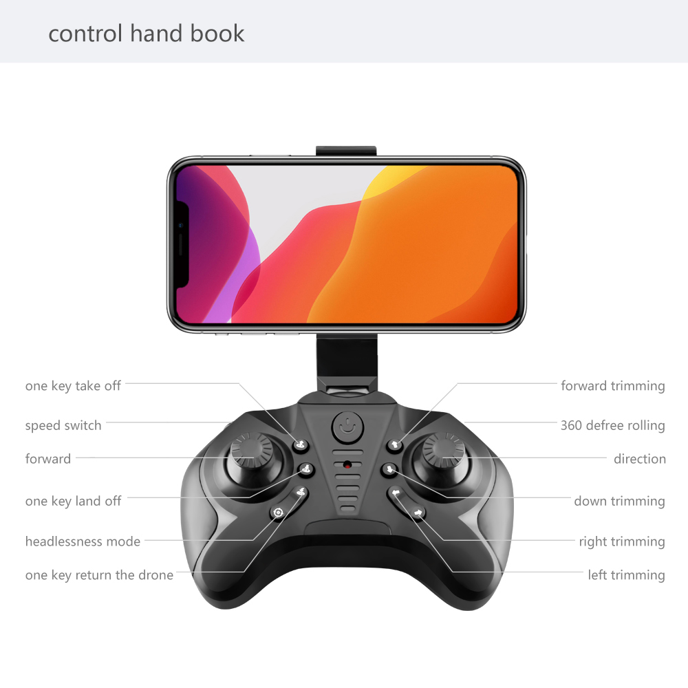 2020 New Mini Drone 4K 1080P HD Camera WiFi FPV Air Pressure Height Maintenance, Portable Foldable Quadrotor dron Children Toy 4