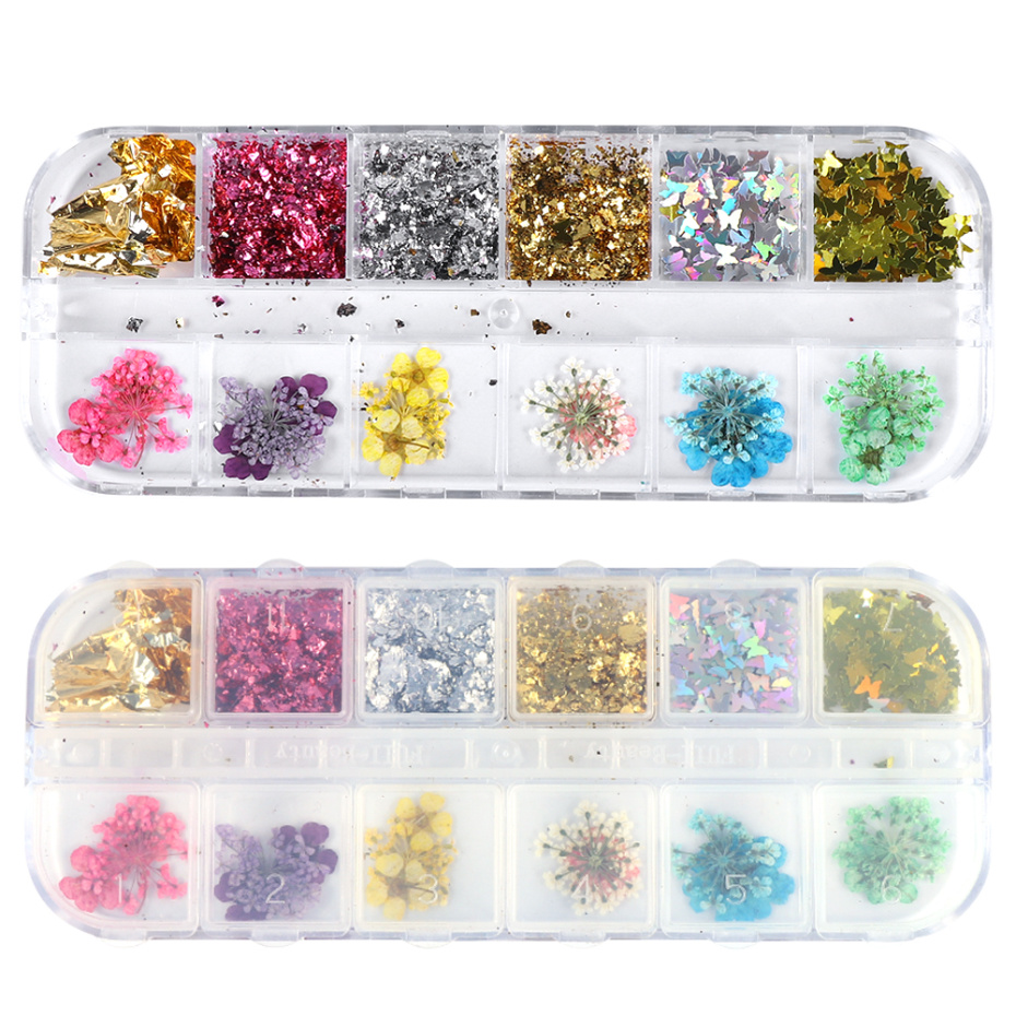 3D Dried Flower Nail Decoration 14