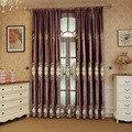 Фиолетовые итальянские бархатные шторы с вышивкой и простой бархатной вышивкой для гостиной столовой спальни.