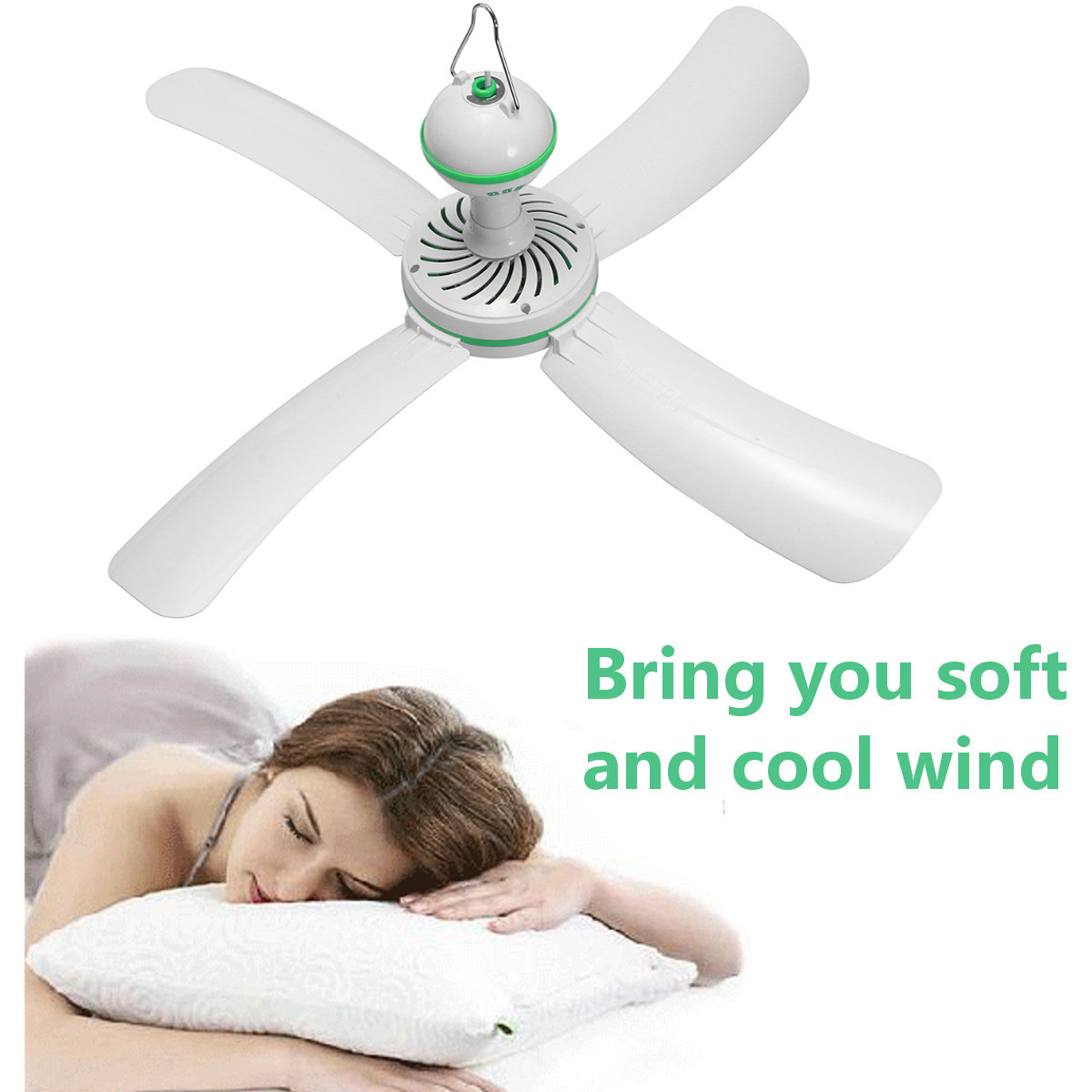 220V Super Silent Ceiling Fans Cool Mosquito Net Electric Fan Large Wind Nets Hanging Fan Mini Portable Soft Wind Household