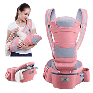 MissAbigale Ergonomic Baby Carrier Infant Baby Hipseat Waist Carrier Front Facing Ergonomic Kangaroo Sling for Baby Travel 0-36M