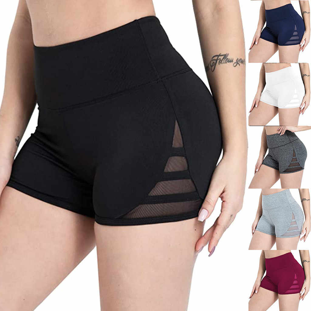 Vrouwen Gym Yoga Shorts Mesh Bijpassende Sport Fitness Stretch Hot Shorts Non-Perspectief Mini Shorts Casual Atletiek Шорты Женские