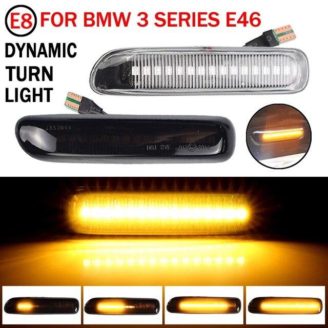 2 stücke Sequentielle Blinkende LED Blinker Seite Marker Licht Für BMW 3 Serie E46 Cabriolet, Mod. Bj. 4/2000   3/2003