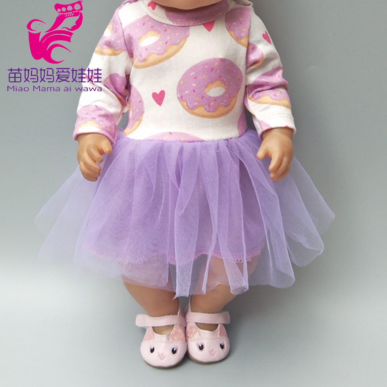 Fit For 43cm  Doll Dress With For 18 Inch Girl Doll Clothes Baby Dolls Wearing Kids Gifts