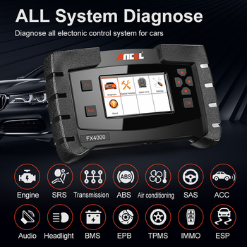 Ancel FX4000 OBD2 Automotive Scanner Professional Full System Code Reader Auto Diagnosis ABS Oil EPB OBD 2 Car Diagnostic Tool