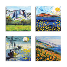 Toile imprimée nordique HD de sud à grand Sur mur, peinture d'art de paysage de lac de montagne, affiche décorative de Nature, décor de maison