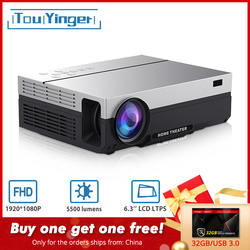 Touyinger T26L T26K 1080p LED full HD proyector de vídeo 5500 Lumen FHD 3D casa cine HDMI ( Android 9,0 wifi AC3 opcional)