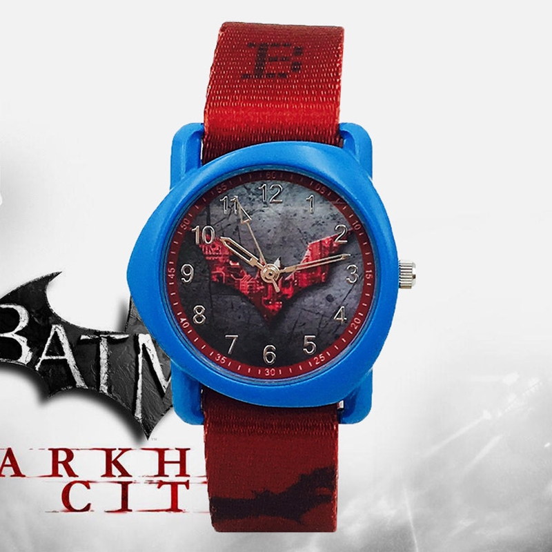 Fashion Batman Kids Watches Boys Waterproof Canvas Strap Cartoon Child Wrist Watch Boys Cool Children Watch Clock Dropshipping