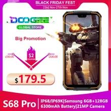 """מוקשח נייד טלפון Doogee S68 פרו Helio P70 אוקטה ליבות 6GB 128GB אלחוטי תשלום 5.84 """"IPS תצוגת 6300mAh 12V/2A Smartphone"""