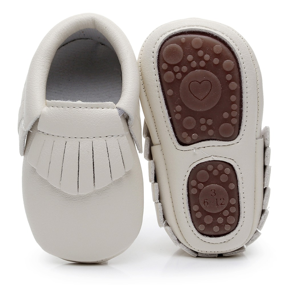Hot Sale PU Leather Rubber Hard Sole Toddler Moccasins Soft Fringe Baby Shoes First Walkers Non-slip Shoes For Bebe Boys Girls