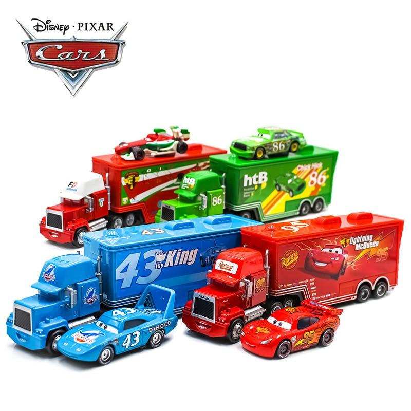 Disney Pixar Cars Mack Lightning McQueen King Jackson Storm Racer Truck Car Toy