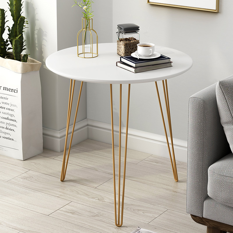 Nordic Sofa Side Tables Furniture Wrought Iron Living Room Simple Bedside Table Balcony Small Coffee Table Round Minimalist