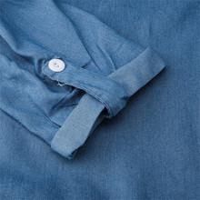 # H30 moda koreański Plus rozmiar sukienka jeansowa dla kobiet letnia sukienka 2020 Lapel Split Sexy długa maksi Jeans sukienka 3xl Vestidos tanie tanio Poliester Luźne dress Lato Skręcić w dół kołnierz Trzy czwarte REGULAR WOMEN NONE vintage Naturalne Stałe Kostek