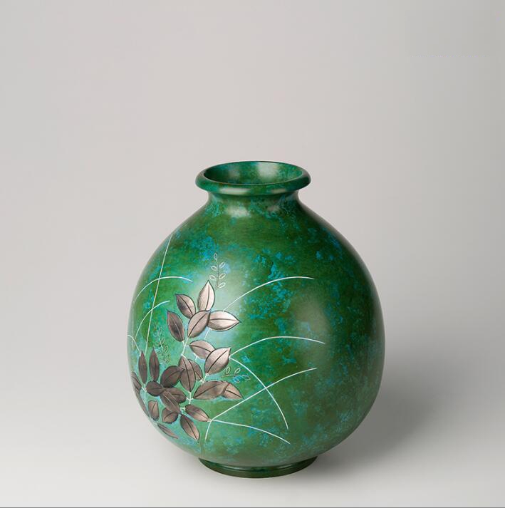 Pure Brass Green Flower Tabletop Flower Vase - Home & Garden