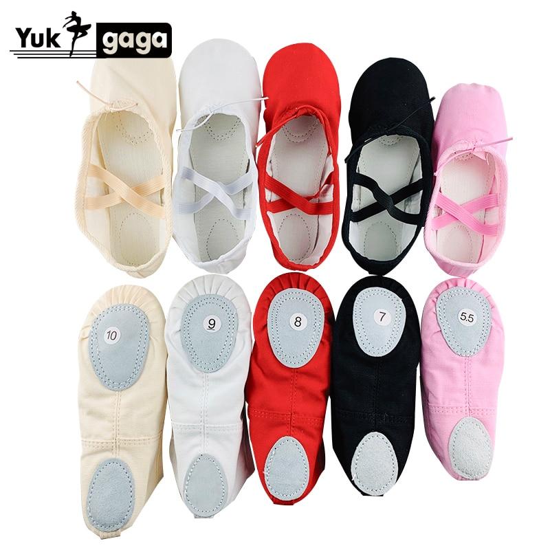 Pantoufles de Ballet classiques pour filles, chaussures de danse en toile à semelle fendue, gymnastique pour bébé, chaussures de Yoga pour enfants, ballerines pour femmes, A02d2 1