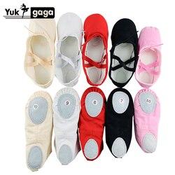 A02d2 Ballet Slippers Voor Meisjes Klassieke Split-Sole Canvas Dans Gymnastiek Baby Yoga Schoenen Kinderen Dans Schoen Vrouwen Ballerina