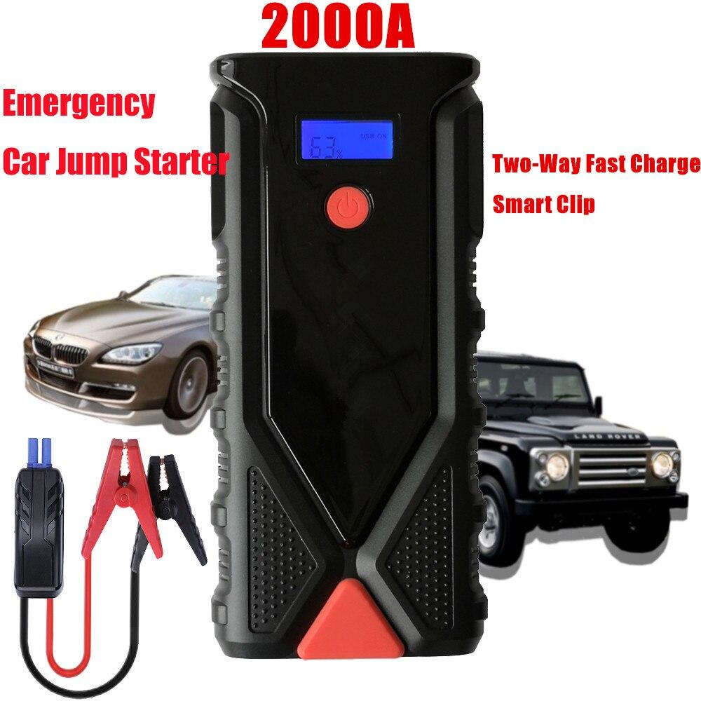 Super puissance 2000A dispositif de démarrage 18000mAh 12V voiture saut démarreur batterie externe essence Diesel chargeur de voiture pour voiture batterie Booster LED
