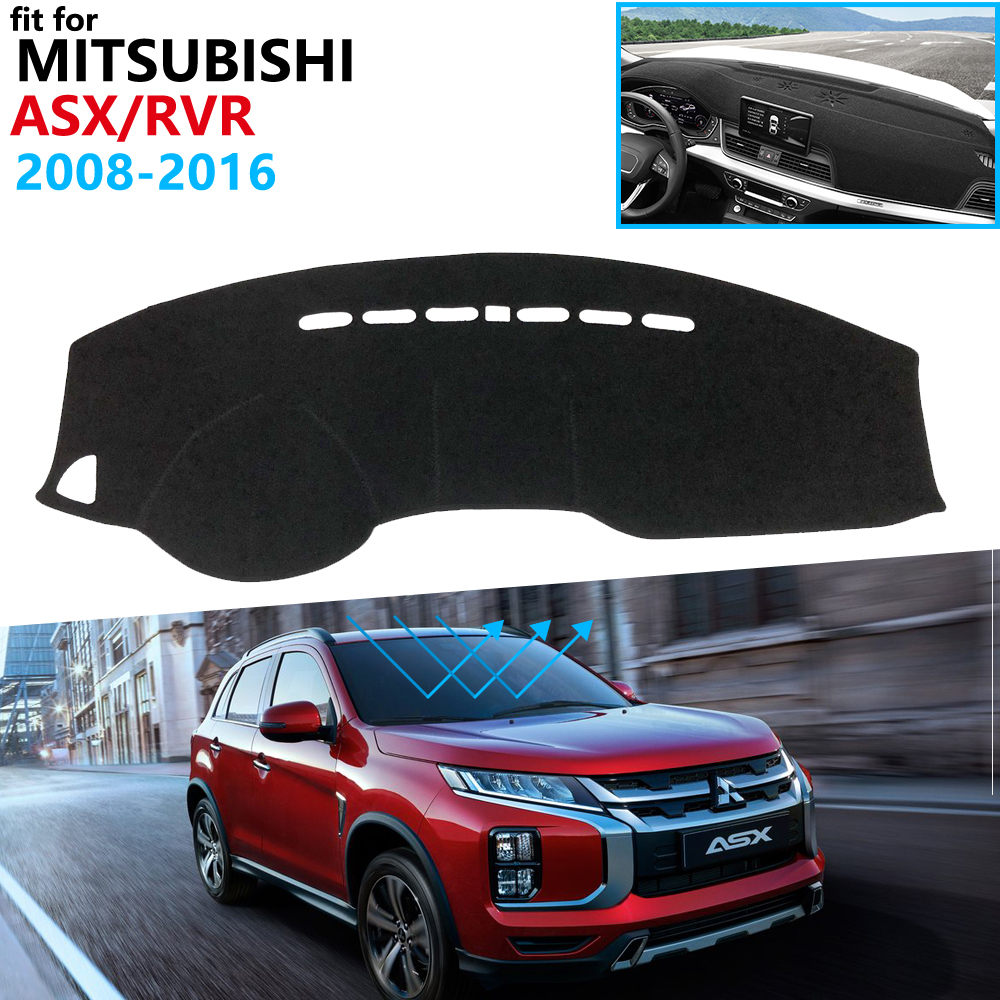 Dashboard Cover Protective Pad For Mitsubishi ASX RVR 2011~2020 Car Accessories Dash Board Sunshade Carpet 2016 2017 2018 2019