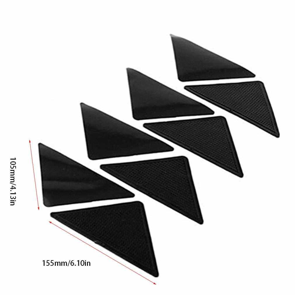 1 Pcs 안티 스키드 러그 카펫 매트 비 슬립 그립 작은 모서리 삼각형 패드 빨 수있는 이동식 강한 접착제