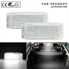 цена на 2X LED Interior Lamp 12V White Lights For Peugeot 1007 206 206+ 207 306 307 308 3008 406 407 5008 607 806 Citroen C3 C4 C5 C6 C8