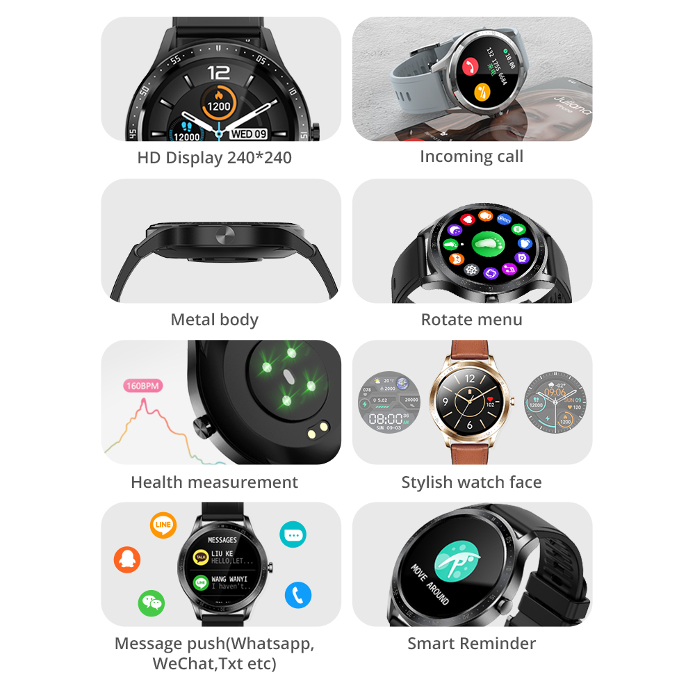 COLMI SKY 5 Smart Watch Men Heart Rate Monitor IP67 Waterproof Bluetooth Smartwatch Global Version For iPhone and android phone 3