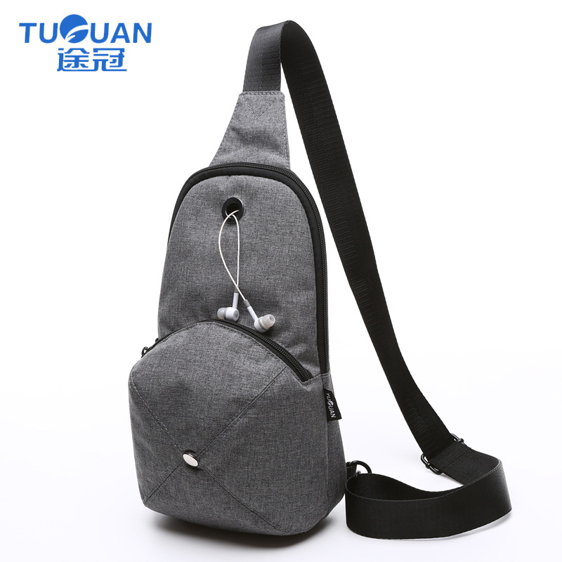 Factory Goods Pass Cool Hat Chest Bag Fashion-Style Anti-Spillage Men Chest Pack Cf1628x
