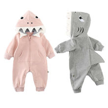 2019 Children Spring Autumn Clothing Baby Kids Boys Girls Infant Hooded Solid Romper Jumpsuit Long Sleeve Clothes Outfits 0-24M цены