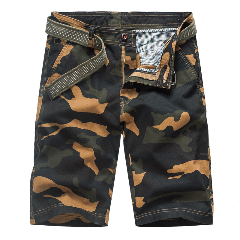 Camouflage Mens Military Cargo Shorts 2019 Brand New Army Tactical Camo Shorts Men Cotton Loose Work Casual Short Pants