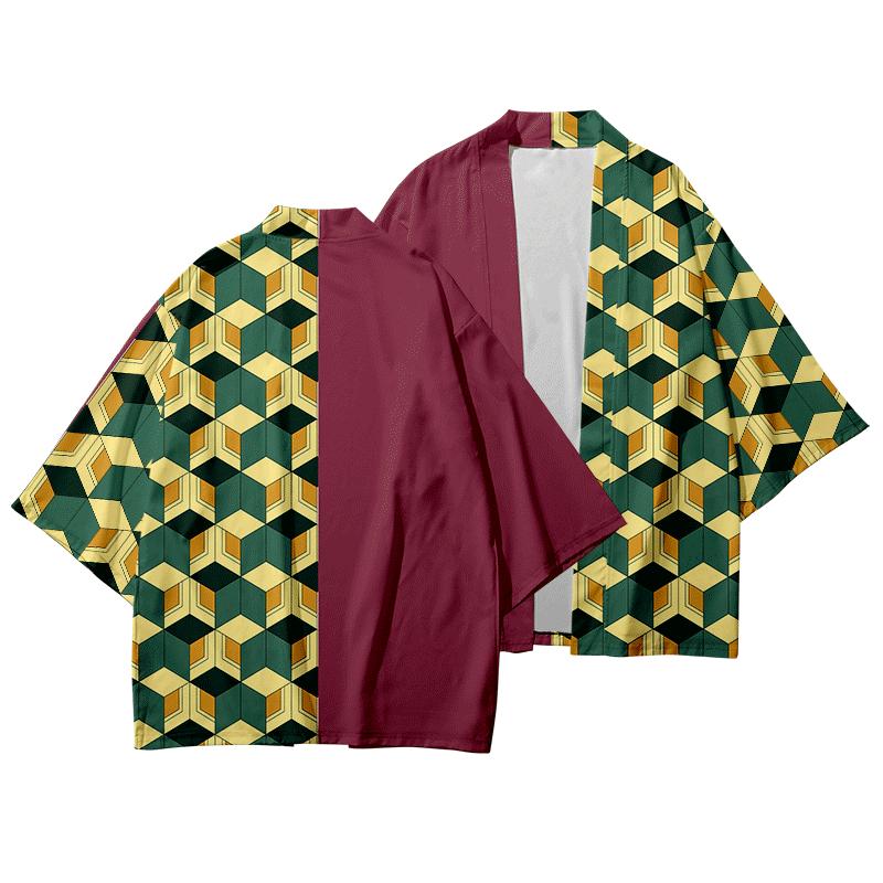 Anime Kimono Demon Slayer Kimetsu No Yaiba New Design Japan Kimono Haori Yukata Cosplay Women/Men Summer Harajuku Streetwear