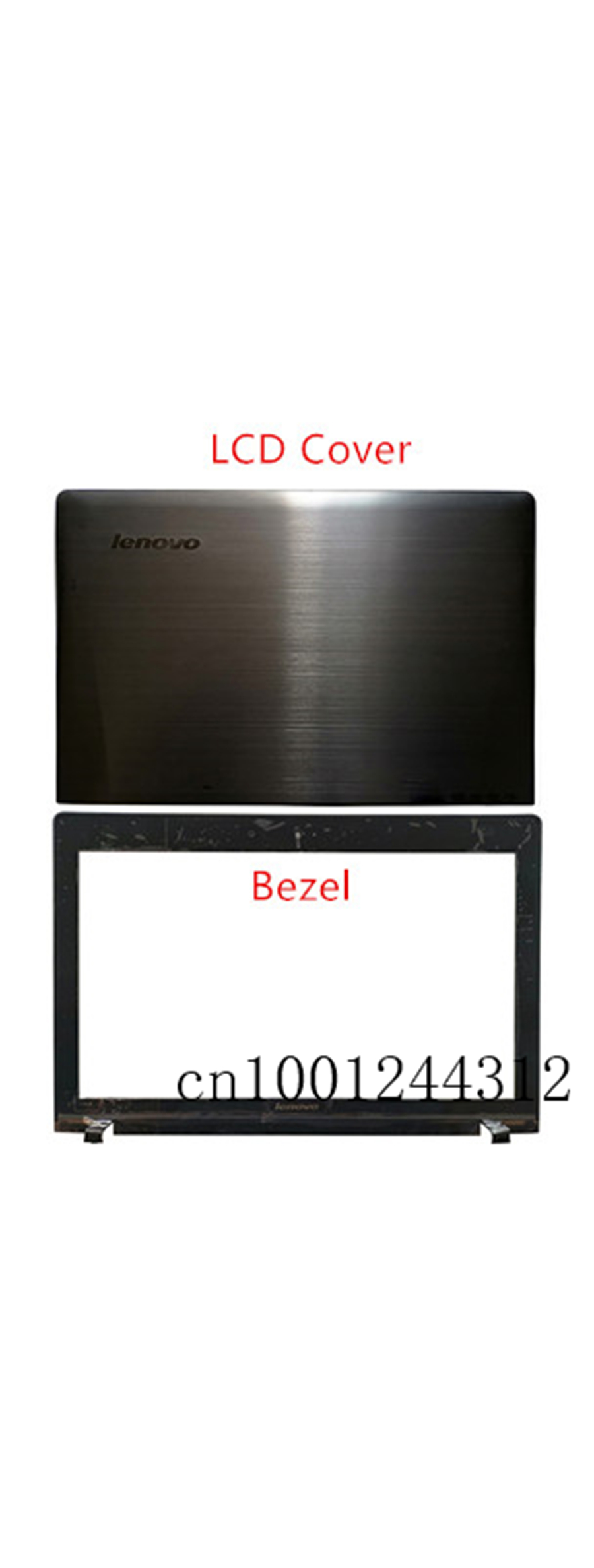New Original For Lenovo Ideapad Y500 Y510 Y510P LCD Rear Top Lid Back Cover / Front Frame Bezel  AM0RR00040 90202003