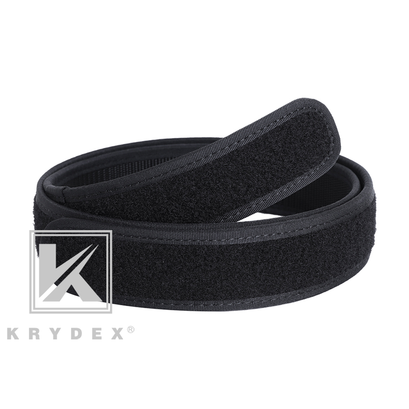 KRYDEX Buckleless Inner Liner Belt 1.5 Inch S - XXL Tactics Nylon Loop Liner Inner Loopback Belt BK Hunting Shooting Accessories